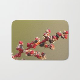 Red Autumn Seed Head Bath Mat