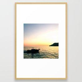 sunset dreams - Cinque Terre, Italy Framed Art Print