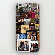 Classic Rock And Roll Albums Collage iPhone Skin