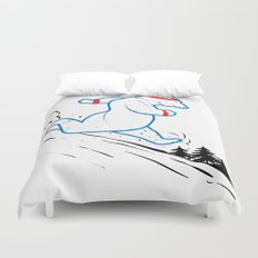 DA BEARS - RUNNING Duvet Cover