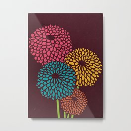 Still Life Chrysanthemum Metal Print
