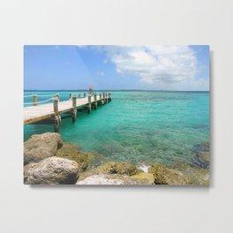 Caribbean Pier Metal Print