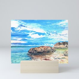Oceanic Borneo Beach Painting Mini Art Print