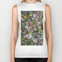 succulents Biker Tanks featuring Succulents by Tiffany Tremaine (birdy)