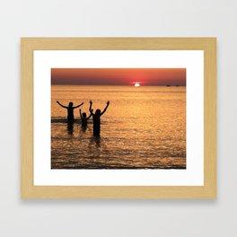Goodnight Sun Framed Art Print