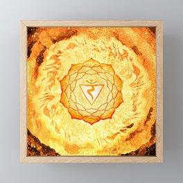 Solar Plexus Chakra Fire Element - 70 Framed Mini Art Print