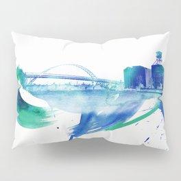 PDX Watercolor 2- Fremont Bridge Pillow Sham