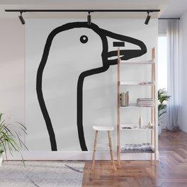Goose Portrait Wall Mural
