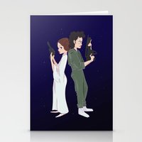 ripley Stationery Cards featuring Leia and Ripley by Ashley Anderson