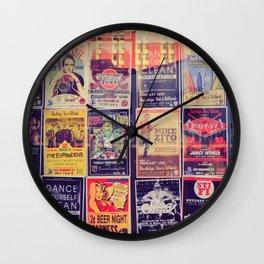 Concert posters Wall Clock