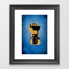 Power Glove Love: The Thing Framed Art Print