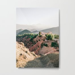 Travel photography Atlas Mountains Ourika | Colorful Marrakech Morocco photo Metal Print