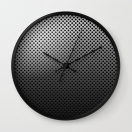 Metal Dotted Silver Wall Clock