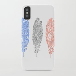 Patterned Plumes iPhone Case