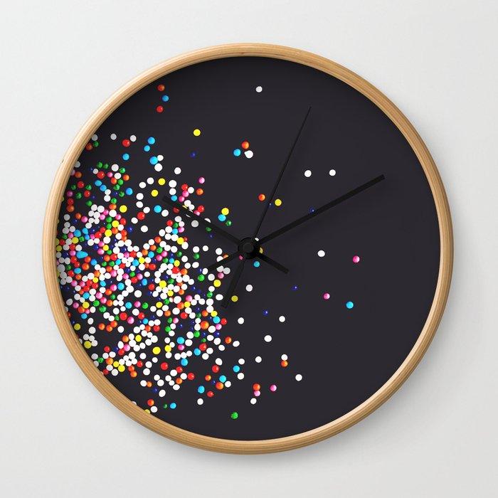 Sprinkles - Vintage Black Wall Clock