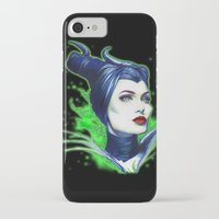 maleficent iPhone & iPod Cases featuring Maleficent by marziiporn