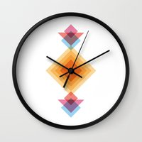 totem Wall Clocks featuring Totem  by Milla Meyer