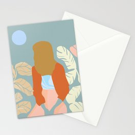 Moon Beam Girl Stationery Cards
