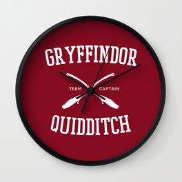 Hogwarts Quidditch Team: Gryffindor Wall Clock