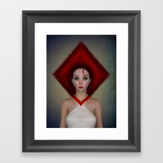 Queen of diamonds portrait Framed Art Print