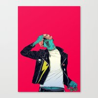 boneface Canvas Prints featuring Removing the mask by boneface