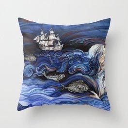 Ocean Hair. Throw Pillow