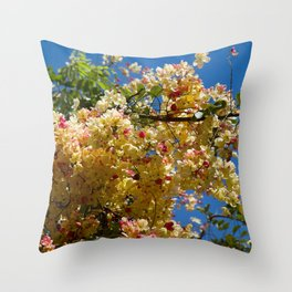 Wilhelmina Tenney Rainbow Shower Tree Throw Pillow