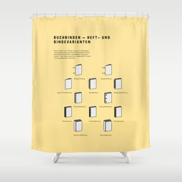 Buchbinden – Heft- und Bindevarianten Shower Curtain