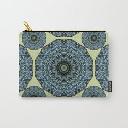 Floral mandala-style, Forget-me-nots 005.5 Carry-All Pouch
