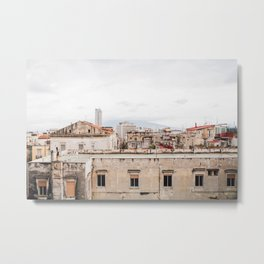 Naples rooftops with clouds Metal Print