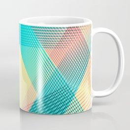 """ Soft "" Geometric blue Coffee Mug"