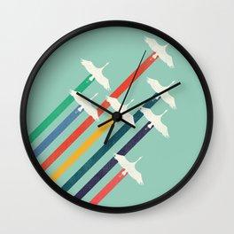 The Cranes Wall Clock