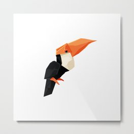 Origami Toucan Metal Print