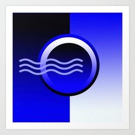 Blue hall wave Art Print