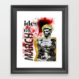March for Caesar Framed Art Print