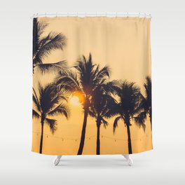 Good Vibes #society6 #palm trees Shower Curtain