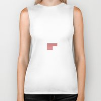 house of cards Biker Tanks featuring UNDERWOOD 2016 - HOUSE OF CARDS by Gareth Edwards Art