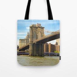 Brooklyn Bridge on a Sunny Day Tote Bag