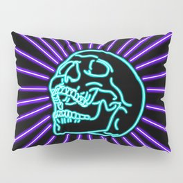 Blue Laughing Skull Pillow Sham
