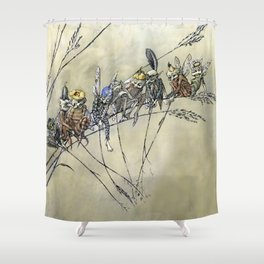 """""""Bother the Gnat Audience"""" by A Duncan Carse Shower Curtain"""