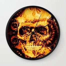 Fire skull Wall Clock