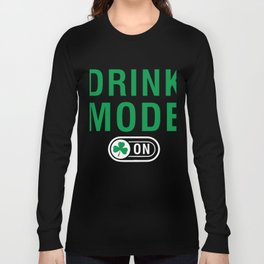 Great Costume For Irish. Patrick's Day Gift For Dad/Mom. Long Sleeve T-shirt