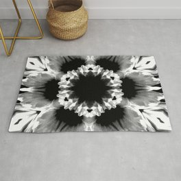 Daisies In Abstract Rug