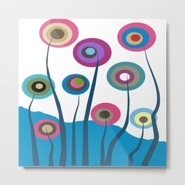 Artsy and Funky Floral Art Metal Print