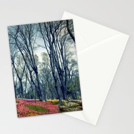 tulip park in Istanbul Stationery Cards