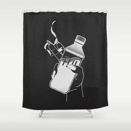 Poise (black) Shower Curtain