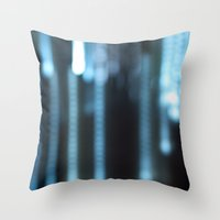 rain Throw Pillows featuring Rain by Moiz Merchant
