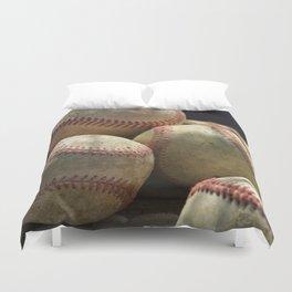 Baseballs and Glove Duvet Cover