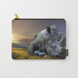 Rhinoceros Crying Carry-All Pouch