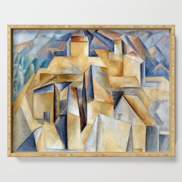 Pablo Picasso Houses on a Hill Serving Tray